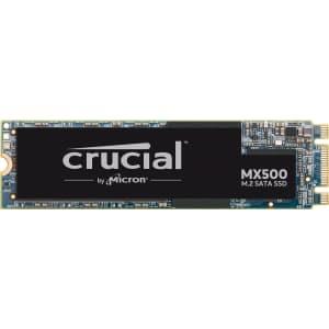Crucial MX500 1TB M.2 SATA Internal SSD for $115