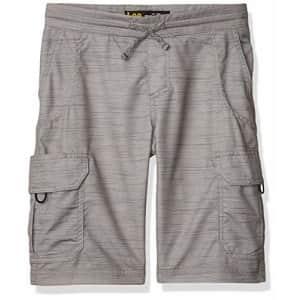 Lee Jeans Lee Little Boy Proof Pull-On Crossroad Cargo Short, Gray Summit Slub, 5 Regular for $20