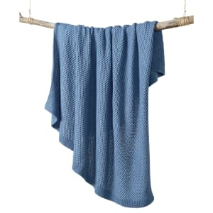 """Charter Club Damask Designs 50"""" x 60"""" Honeycomb Throw Blanket for $15"""