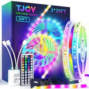 Tjoy 50-Foot LED Strip Lights for $17