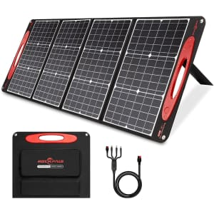 Rockpals 120W/18V Portable Solar Panel for $135