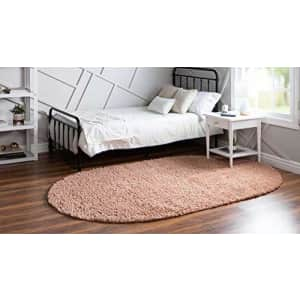 Unique Loom Davos Shag Collection Modern Luxuriously Soft & Cozy Shag Area Rug (3' 3 x 5' 3 Oval, for $53
