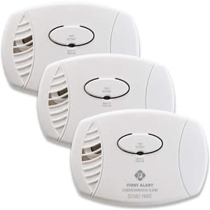 First Alert Plug-In Carbon Monoxide Detector 3-Pack for $62