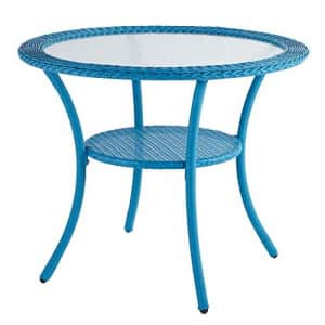 BrylaneHome Roma All-Weather Resin Wicker Bistro Table Patio Furniture, Pool for $191
