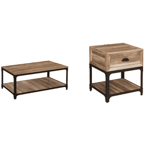 HMidea Elk Grove Rustic Coffee and End Table Set for $319
