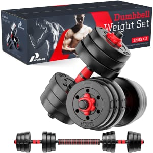 Partrisee Dumbbell Weight Set for $54