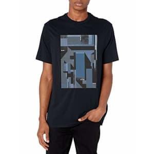 A|X Armani Exchange Men's Graphic T-Shirt, Deep Navy, L for $40