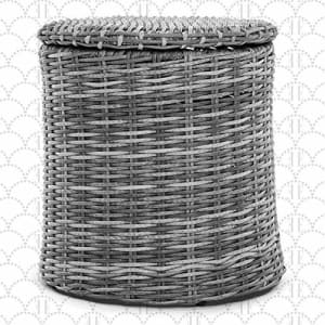Elle Decor Vallauris Patio Outdoor Furniture Collection Premium All Weather Wicker, Storage Side for $150