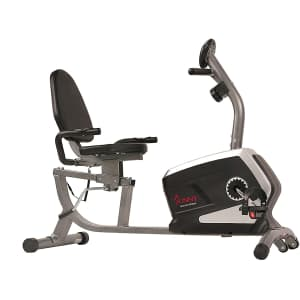 Sunny Health Magnetic Recumbent Exercise Bike w/ Digital Monitor for $180