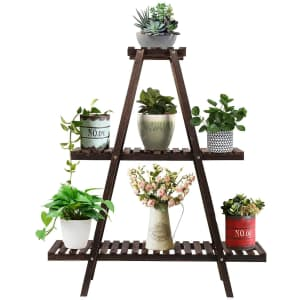 Augosta 3 Tier Wood Plant Stand for $34