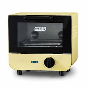 Dash DMTO100GBPY04 Mini Toaster Oven Cooker for Bread, Bagels, Cookies, Pizza, Paninis & More with for $25
