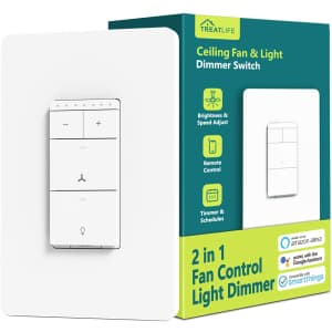 Treatlife Smart Fan Control and Light Dimmer Switch for $38