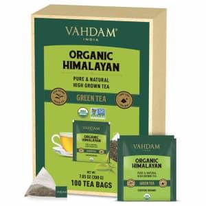 Vahdam 100-Count Tea Bags for $21