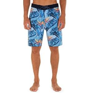 "Hurley Men's Phantom Printed 20"" Stretch Board Shorts, Coast, 30 for $32"