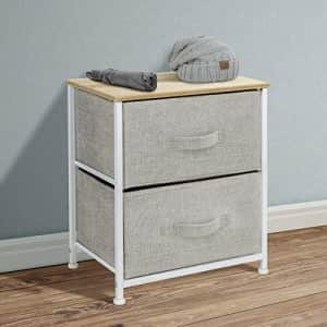 Sorbus Nightstand with 2 Drawers - Bedside Furniture & Night Stand End Table Dresser for Home, for $38
