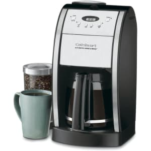 Cuisinart Grind & Brew 12-Cup Automatic Coffee Maker w/ Built-In Grinder for $75