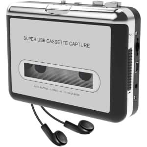 DigitNow Cassette Player-Cassette Tape to MP3 CD Converter for $24