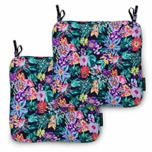 Vera Bradley by Classic Accessories Water-Resistant Patio Chair Cushions, 19 x 19 x 5 Inch, 2 Pack, for $48
