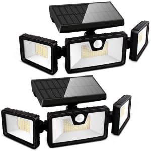 Otdair 188-LED Solar Motion Lights 2-Pack for $23