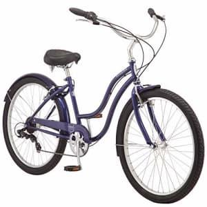 Schwinn Mikko Adult Beach Cruiser Bike, Featuring 17-Inch/Medium Steel Step-Over Frames, 7-Speed for $520