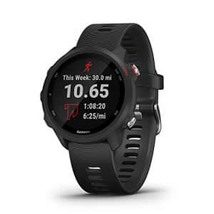 Garmin Forerunner 245 Music, GPS Running Smartwatch with Music and Advanced Dynamics, Black for $350
