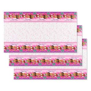 American Greetings Plastic Table Covers for Arts & Crafts, Pink Paw Patrol Party Supplies (3-Count) for $22