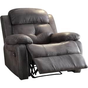 Acme Furniture Ashe Microfiber Recliner for $204
