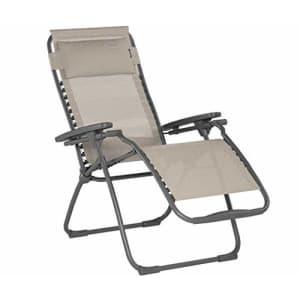 Lafuma Futura Zero Gravity Patio Recliner (Seigle Grey Batyline Canvas) Outdoor Folding Lounge Chair for $250