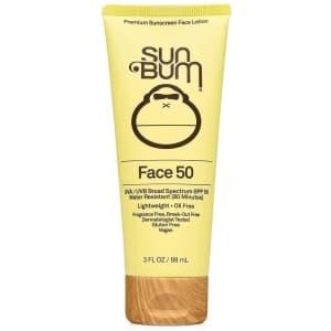 Sun Bum Face 50 SPF 50 Sunscreen Lotion for $13