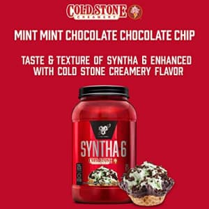 BSN Syntha-6 Whey Protein Powder, Cold Stone Creamery- Mint Mint Chocolate Chocolate Chip Flavor, for $40