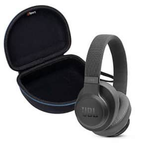 JBL Live 500BT Wireless Over-Ear Headphone Bundle with gSport Deluxe Travel Case (Black) for $150