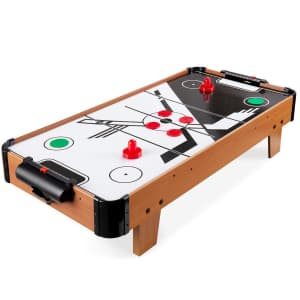 Best Choice Products Tabletop Air Hockey Game Table for $55