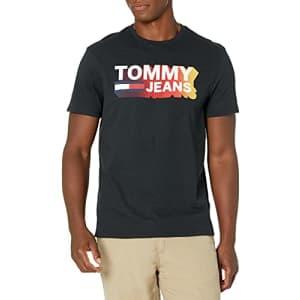 Tommy Hilfiger Men's Tommy Jeans Graphic T Shirt, Jet Black, MD for $39