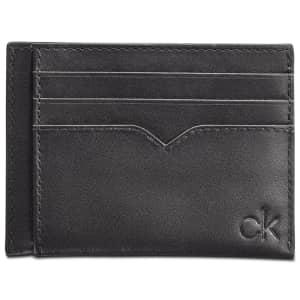 Calvin Klein Leather Logo Card Case for $11