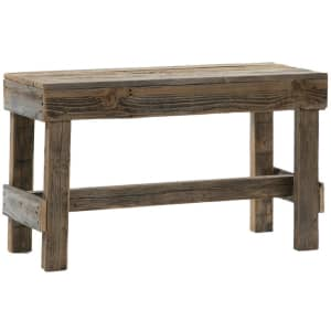 """Del Hutson Designs Barnwood 34"""" Reclaimed Wood Bench for $49...or less"""