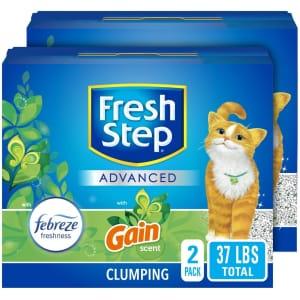 Fresh Step Advanced 37-lb. Clumping Cat Litter for $13