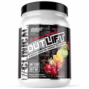 Nutrex Research Oulift Bonus Size | Clinically Dosed Pre-Workout Powerhouse, Citrulline, BCAA, for $40