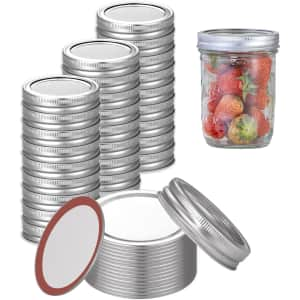 Mlesi Regular Mouth Canning Lid 48-Pack for $7