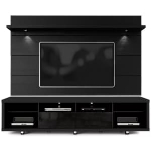 """Manhattan Comfort Cabrini 2.2 86"""" Wall Panel and TV Stand Combo for $541"""