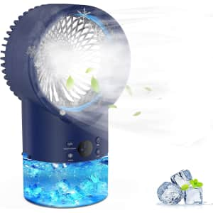 EEIEER Personal Misting Air Conditioner Fan for $17