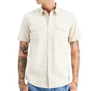 Sun + Stone Men's Austin Regular-Fit Western Shirt for $20