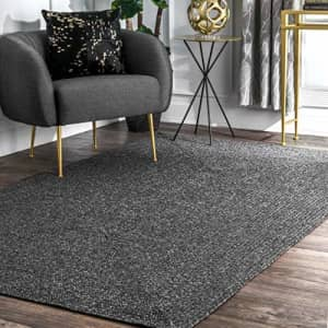 nuLOOM Wynn Braided Indoor/Outdoor Area Rug, 4' x 6', Charcoal for $244