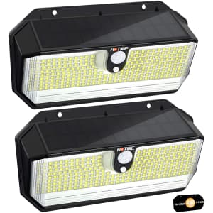 Hotime Outdoor Solar Lights 2-Pack for $18