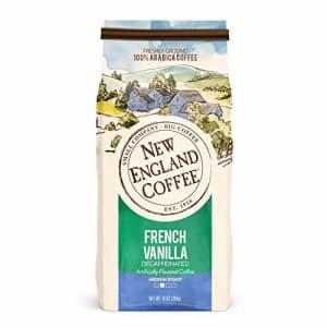 New England Coffee French Vanilla Decaffeinated Medium Roast Ground Coffee 10 oz. Bag for $15