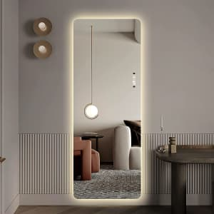 Laiya Wall-Mounted Frameless LED Mirror for $202