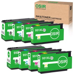 Osir HP 950XL/951XL Compatible Ink 8-Pack for $20