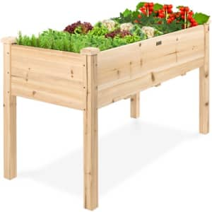 """Best Choice Products 48"""" x 24"""" Elevated Wood Planter for $110"""