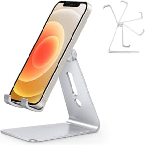 Omoton Adjustable Aluminum Cell Phone Stand for $12