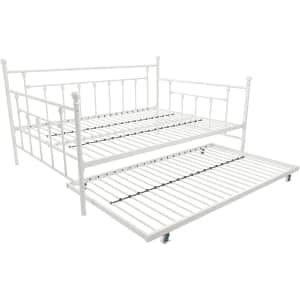 DHP Metal Full Size Daybed w/ Twin Size Trundle for $268