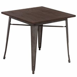 FDW Kitchen Table Metal Dining Table Metal Table 31 x 31 Inches Bar Coffee Table Home Restaurant for $290